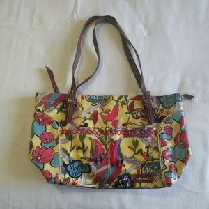 Sakroots Purse Yellow Floral Bird Happy Free